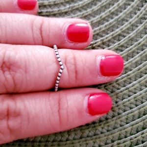 Sterling Silver 925 Minimalist Band Ring Size 6